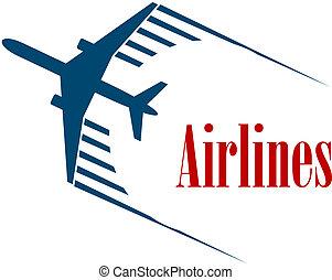 oder, emblem, fluggesellschaften, ikone