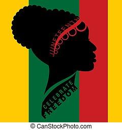oder, freiheit, afro-american, tag, juneteenth