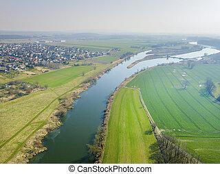 Oder River in Krapkowice