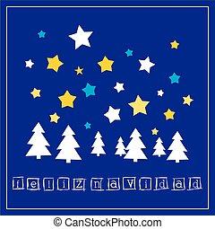 oder, vektor, weihnachtskarte, einladung