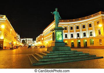 odessa, duc, statue, ukraine, richelieu