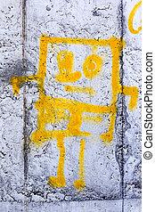 Odessa - MARCH 16: Street art by unidentified artist....
