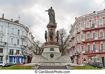 odessa, ukraine, catherine., impératrice, monument