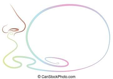 odeur odeur nez contour isol illustration clip art vectoriel rechercher des. Black Bedroom Furniture Sets. Home Design Ideas