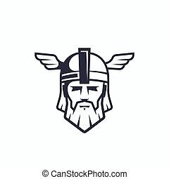 Odin Vector Sport Team or League Logo Template. Viking Face ...
