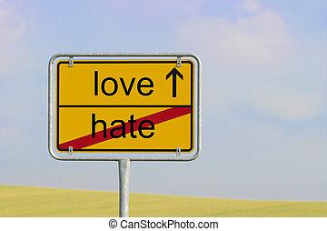 odio, amore, segno