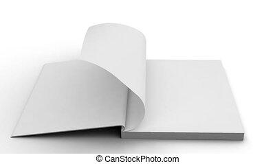 odizolowany, -, czysty, notatnik, biały