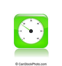 odizolowany, ilustracja, jednorazowy, wektor, szybkość, ikona