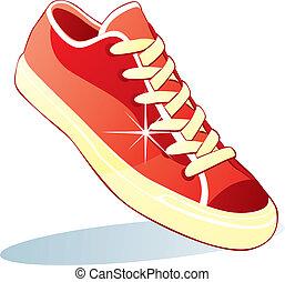 odizolowany, obuwie