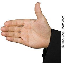 odizolowany, ręka