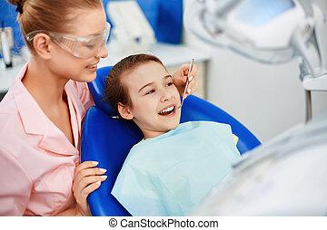 odontólogo, clínica, criança