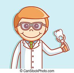 odontólogo, dente