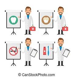 odontólogo, pontos, carta aleta
