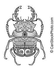 odontolabis cuvera - Hand drawn zentangle odontolabis cuvera...