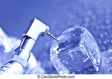 odontologia, ferramentas, e, cuidado dental