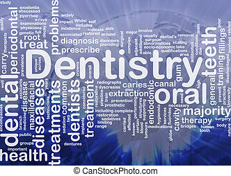 odontologia, fundo, conceito