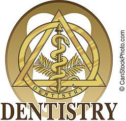 odontologia, símbolo, desenho