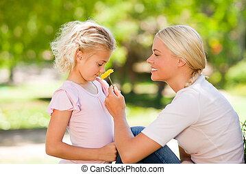 odorando, fiore, figlia, lei, madre