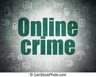 odosobnienie, concept:, online, zbrodnia, na, cyfrowy, dane, papier, tło