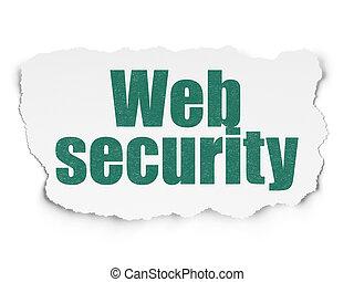odosobnienie, concept:, sieć, bezpieczeństwo, na, porwany papier, tło