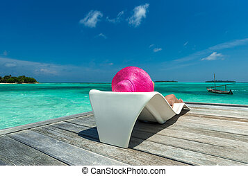 odpoczynek, ocean, wyspa raju