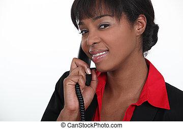 odpowiadając, portier, telefon