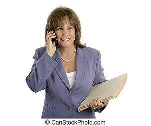 odprężony, businesswoma