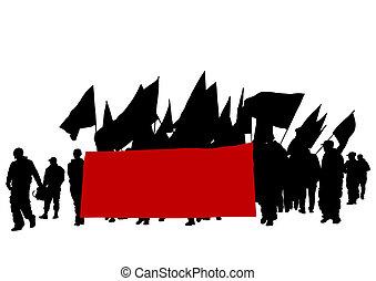 odrobina, bandery, ludzie