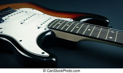 odsłonił, gitara, aksamit, pod, listek, elektryczny