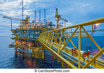 odsun, nafta, plyn, rampa