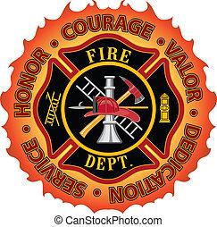 odwaga, firefighter, honor, dzielność