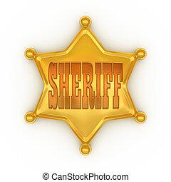odznaka, szeryf