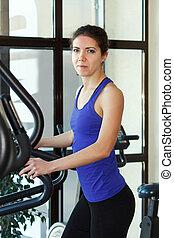 oefeningen,  Gym, vrouw