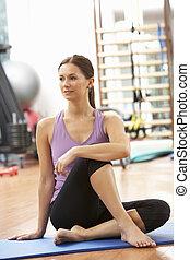oefeningen,  Gym, vrouw,  Stretching
