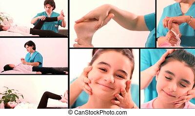 oefeningen, video, montage-therapeutic