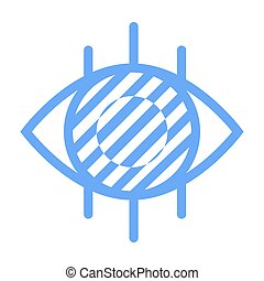 oeil, étiquette, vue, ophtalmologie, vecteur, logotype