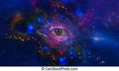 oeil, fractal, cosmique