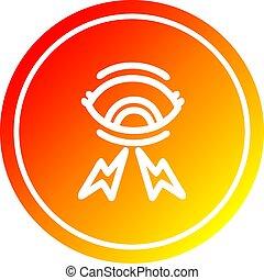 oeil, gradient, mystique, spectre, chaud, circulaire