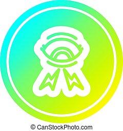 oeil, gradient, mystique, spectre, froid, circulaire