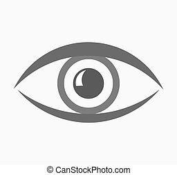 oeil, icône