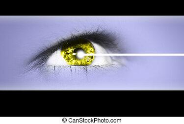 oeil, laser, opération
