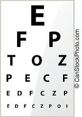oeil, monde médical, -, diagramme, vue, flou