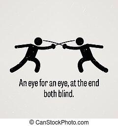 oeil, oeil, deux, fin