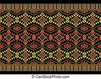 oekraïener, folk-music, model, ornament., illustratie, seamless, vector
