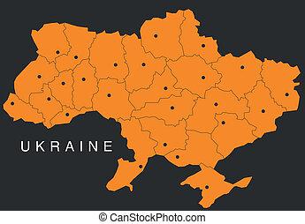 oekraïne, kaart