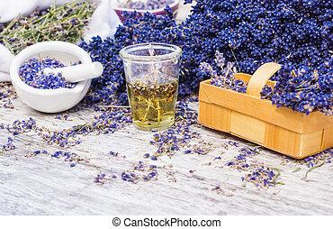 oel, lavendel, pflanze, medizinisch, lavendel