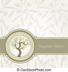 oel, schablone, olive, etikett