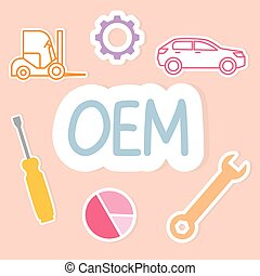 OEM (Original Equipment Manufacturer) acronym concept- vector illustration