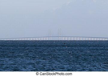 Oeresundsbroen between Denmark and Sweden