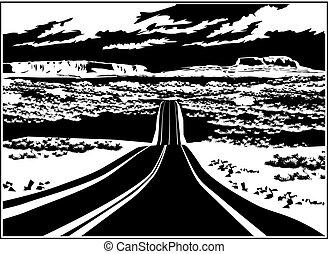 oeste, rodovia